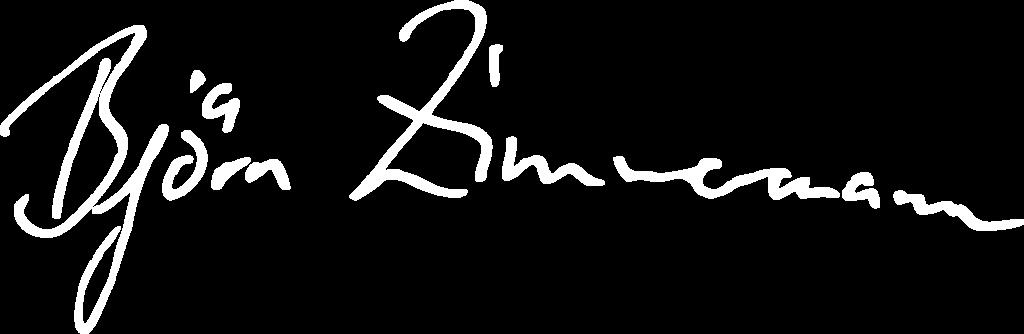 Unterschrift Björn Zimmermann